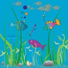 fish under the ocean. ocean wave clipart