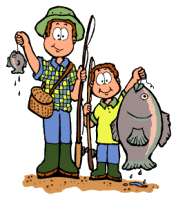 Dad Fishing Clipart #1
