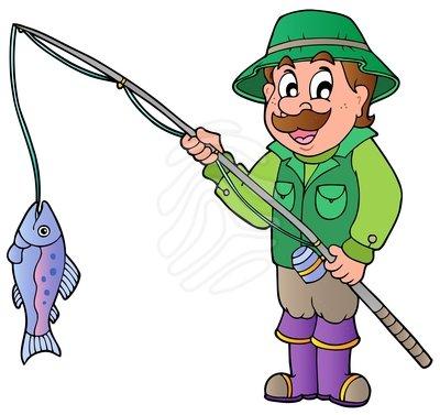 Fishing fisherman of men clipart clipart kid