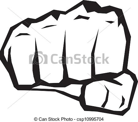 ... fist silhouette. - freedom concept. vector black and white... ...