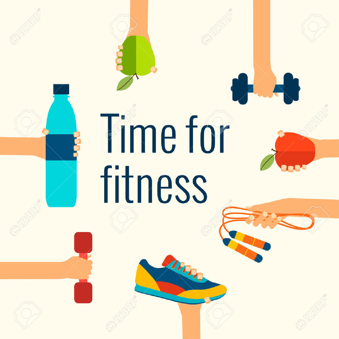 Abstract clipart fitness #14