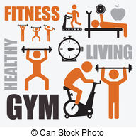 . hdclipartall.com Fitness design over white background, vector illustration