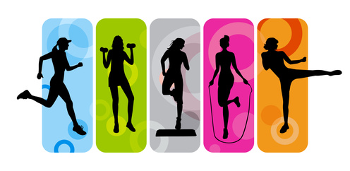 Group Fitness Clipart #1