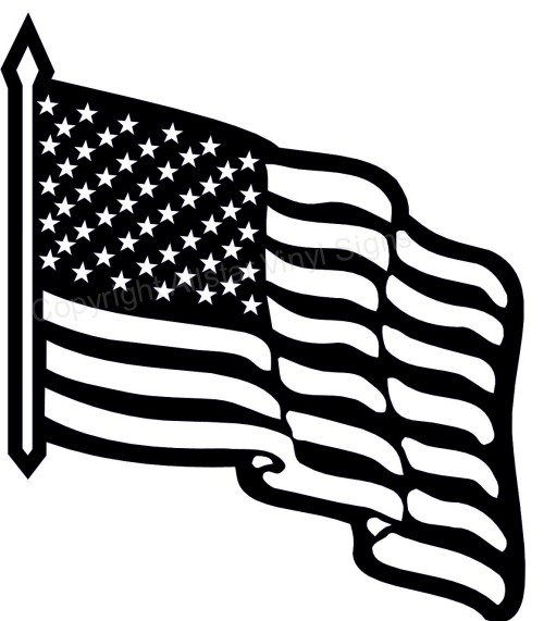 Flag Day Clip Art Black And ..