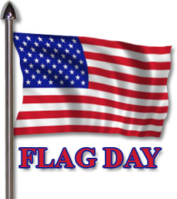 Flag Day with an American Flag