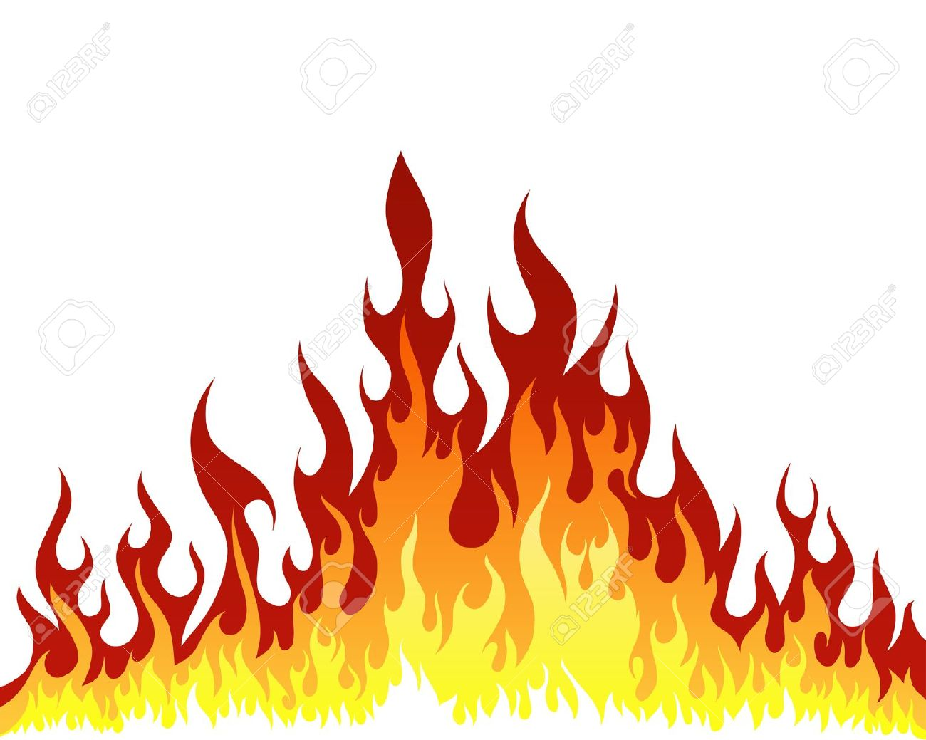 Flames clip art free free clipart images