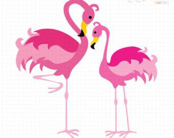 Flamingo Clipart Etsy