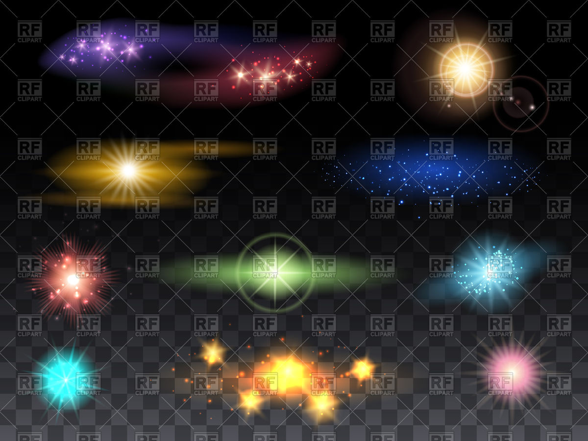 Lens flare effects - set Vector Image u2013 Vector Artwork of Signs, Symbols,  Maps Click to Zoom