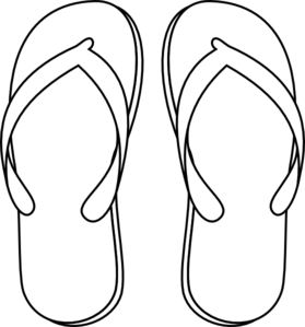 flip flop clipart black and white