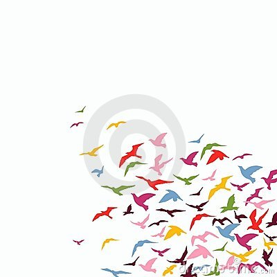 Flock Of Birds Royalty Free S - Flock of Birds Clipart