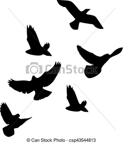 Flock Of Birds Vector