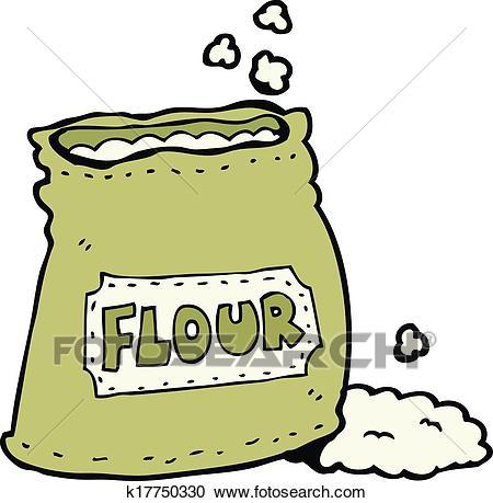 Clipart - cartoon bag of flour. Fotosearch - Search Clip Art, Illustration  Murals,