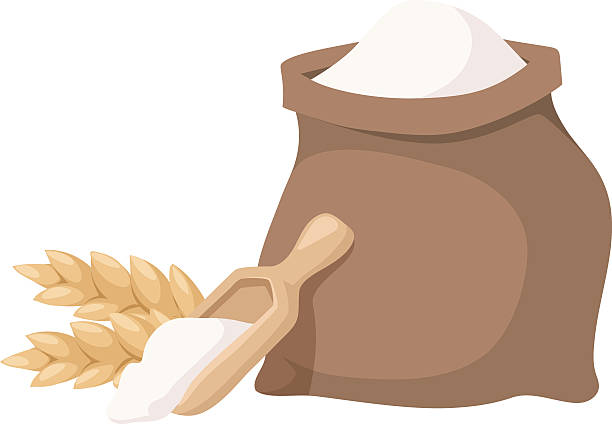 Flour bag vector illustration vector art illustration