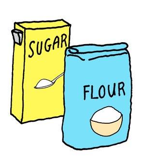 Flour clipart suger #6