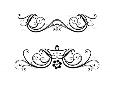 Flourish Clip Art Vintage Flower Clipart Designs For Diy Wedding