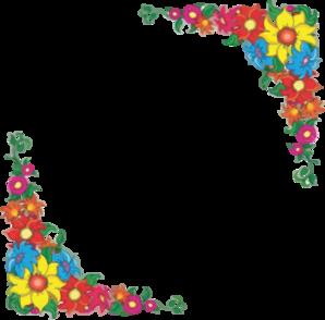 Flower Border Clip Art - .