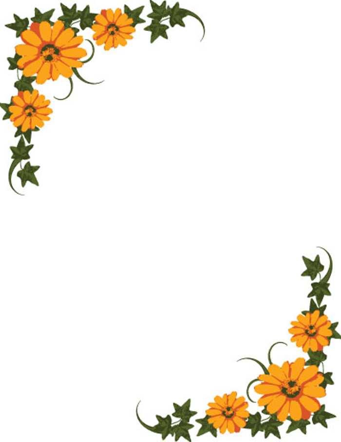 Flower border flower clip art border pictures reference