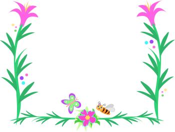 Flower Borders Clip Art - .