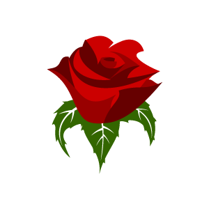 Flower Clipart - Red Rose .