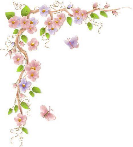 Flower Vine Border Clip Art Art Pinterest Flower Vines Potting