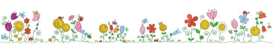 ... Flowers border; Beautifull Green Flower border; Spring Flowers Border Clipart ...
