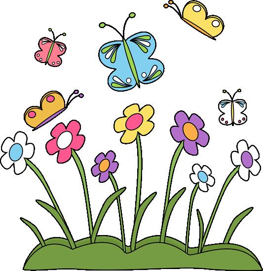 Flowers Border Clip Art .