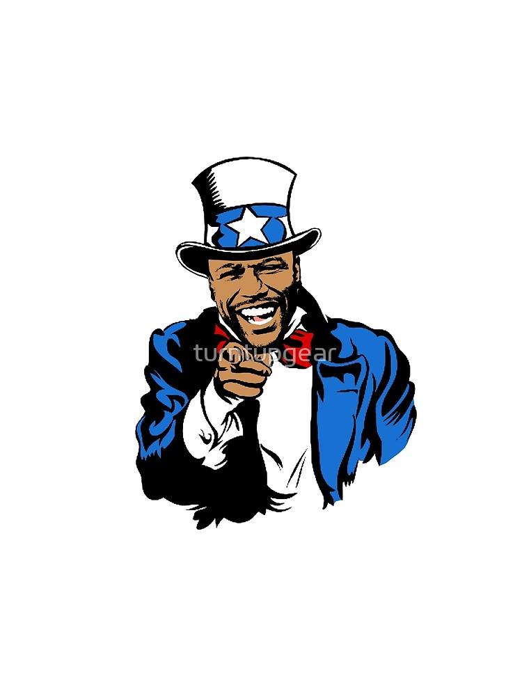 Floyd Mayweather Uncle Sam Cartoon (Light) by turntupgear