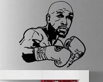 Pretty Boy Floyd Mayweather Jr. Vinyl Art Boxing Champion Wall Sticker Floyd  Mayweather Wall Vinyl