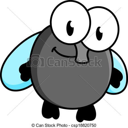 Funny little cartoon fly - csp18820750