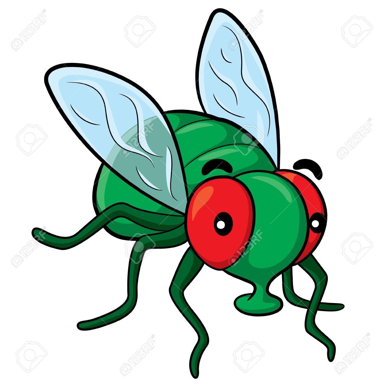 Illustration of cute cartoon fly. Stock Vector - 48843367