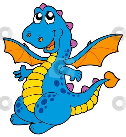 flying dragon clipart