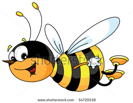 Flying Bee Illustration Clipart Panda Free Clipart Images