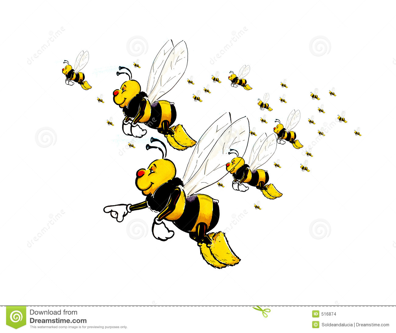 Flying Bees Stock Images Image 516874