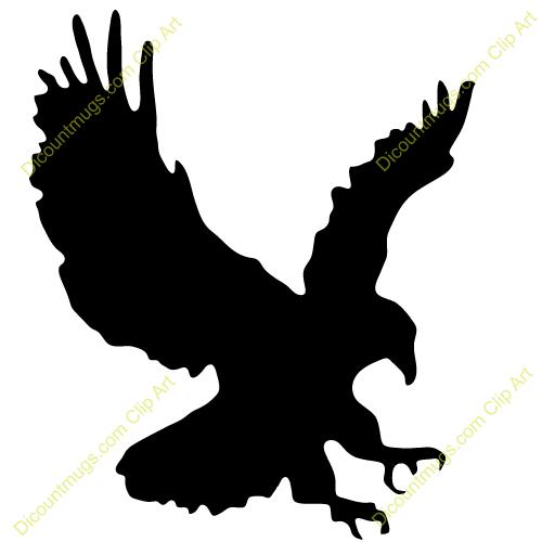 Flying Eagle Clip Art