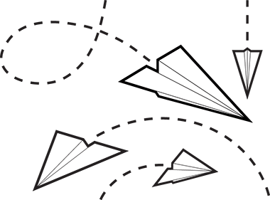 Flying Paper Airplane Clipart Clipart Panda Free Clipart Images