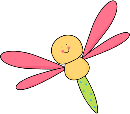 Flying Pink and Yellow Dragonfly