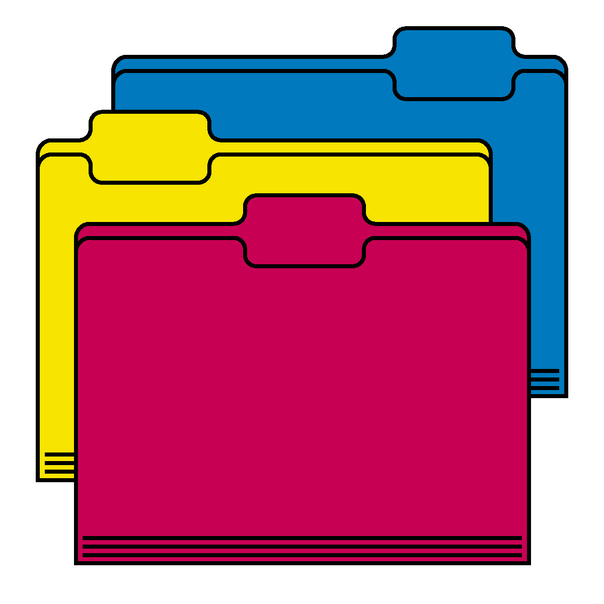 4 Folders Clipart #1