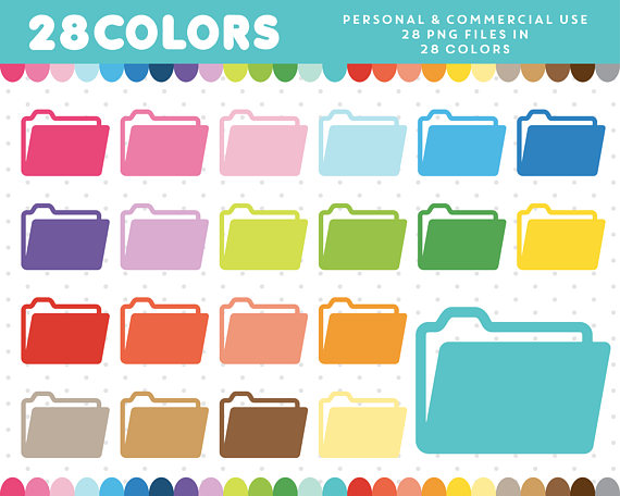 Folder clipart, School clipart, Office clipart, Folder clip art, Folder  icon, School icon, Office icon, Commercial License, CL-437 from  JSdigitalpaper on hdclipartall.com