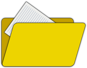 Folder With File Icon Clip Art