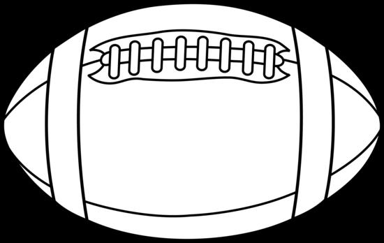 Football Clipart Black And .. - Football Clipart