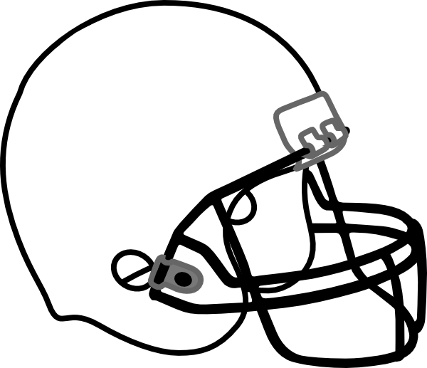 american football clipart bla - Football Clipart Black And White