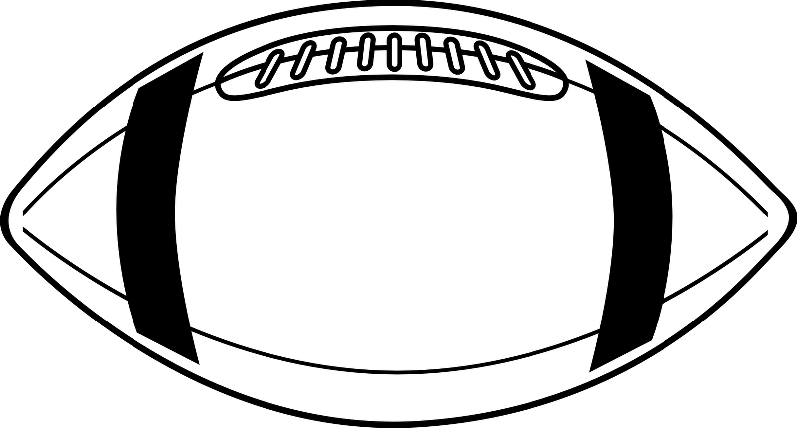 American Football Clipart Black And White | Clipart library - Free