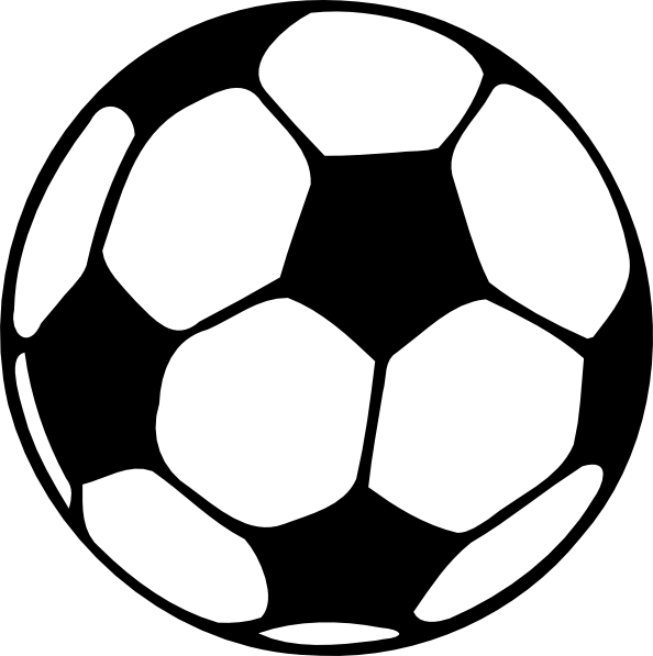 Football Clipart Black And White Free