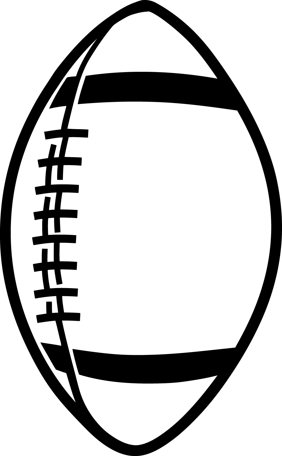 Football Clipart Black And Wh - Football Clipart Black And White