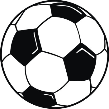 Football clipart black and white free images 3