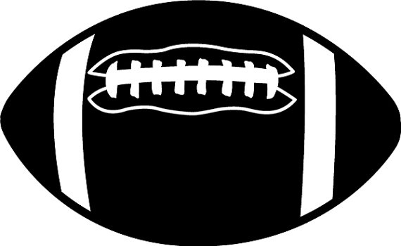 Football Clipart Black And White - Image (30721)