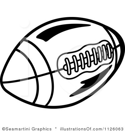 Free Football Black And White Clipart #1
