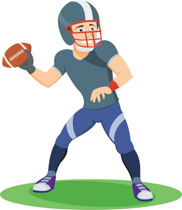 Quarterback preparing to throw the football clipart. Size: 93 Kb