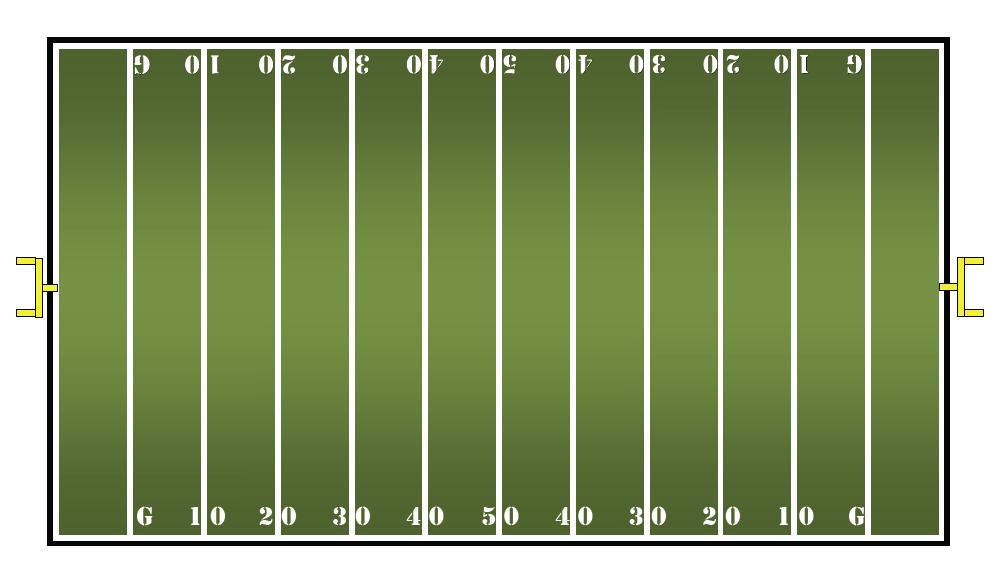 Football field clipart 2