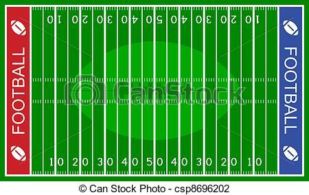 Football Field Clipart And Stock Illustrations Football